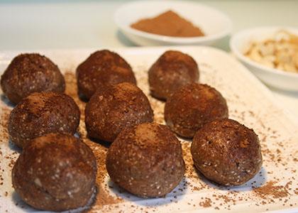 Double Chocolate Cookie Dough Balls