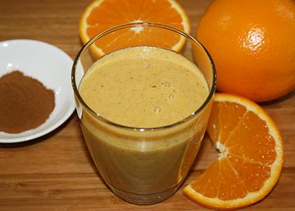 Orange Spiced Chia Smoothie